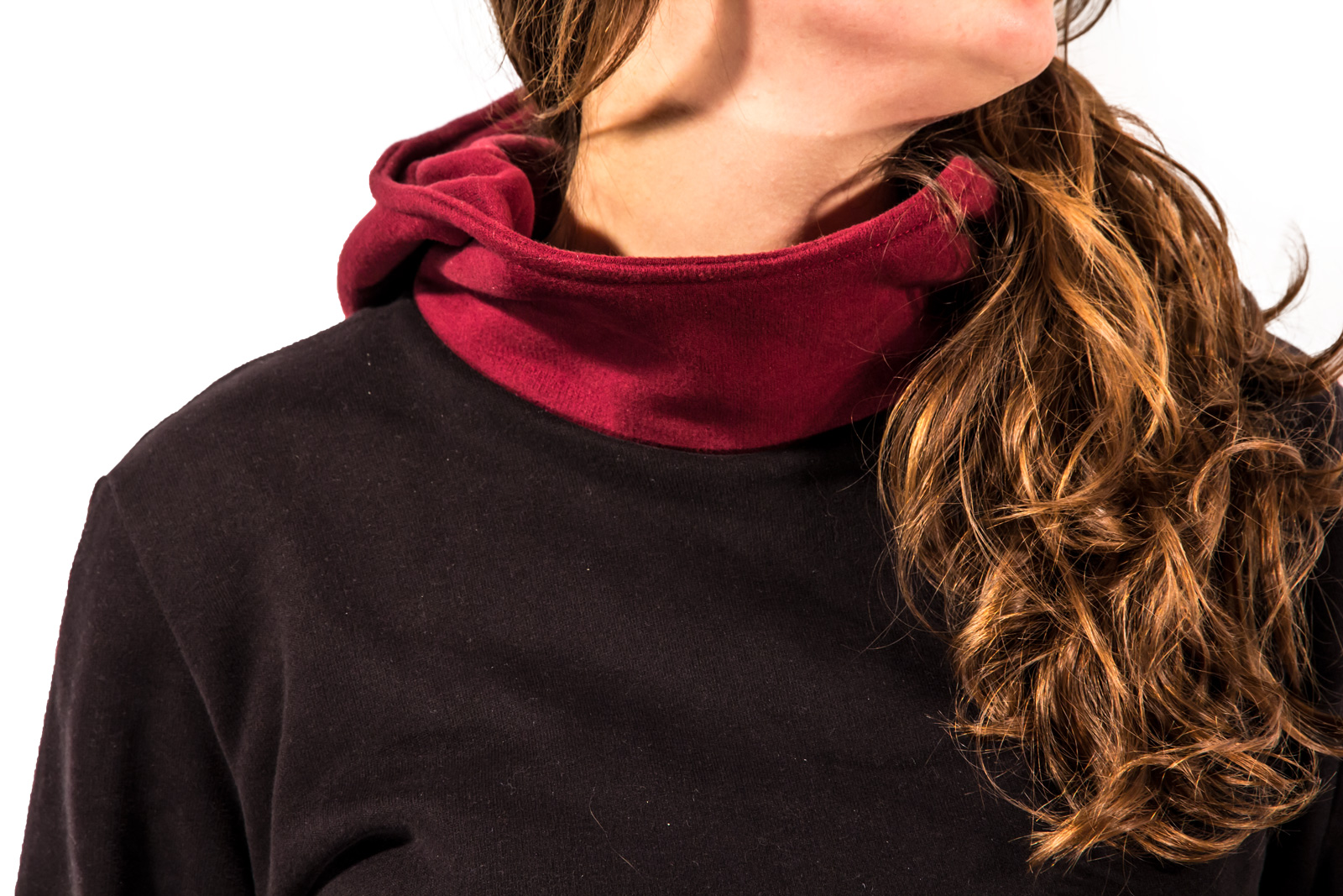 Bicolor handmade hoodie, 100% cotton, for skaters, surfers and snowboarders