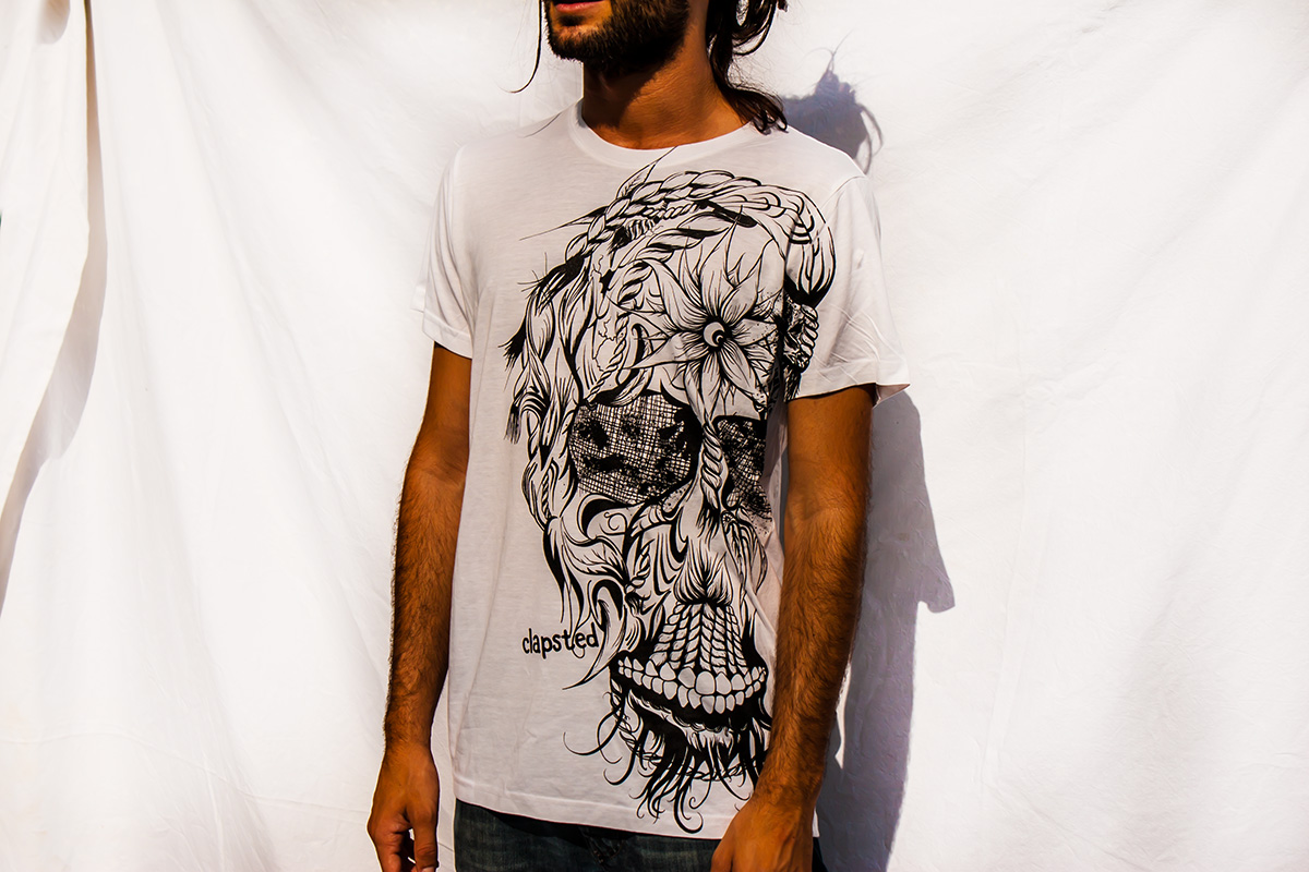 clapsted mexican surf skate t-shirt screen printing