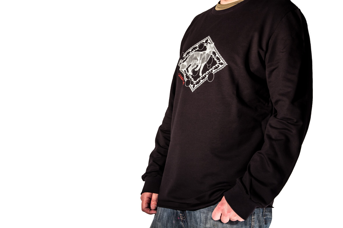 sweatshirt and t-shirt with fox, model isofox clapsted